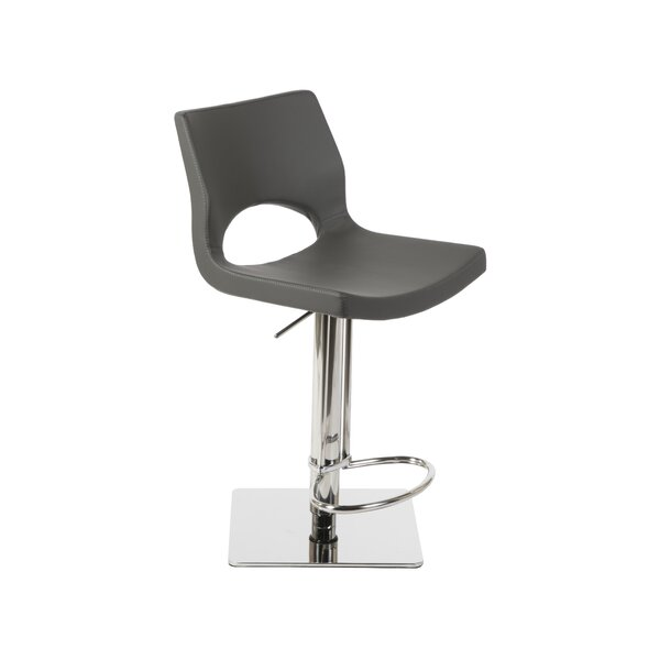 Ascella Modern Adjustable Height Swivel Bar Stool by Orren Ellis
