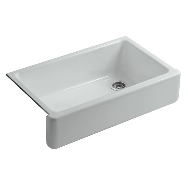 Whitehaven Self-Trimming 35.69 L x 21.56 W Farmhouse Single Bowl Kitchen Sink by Kohler