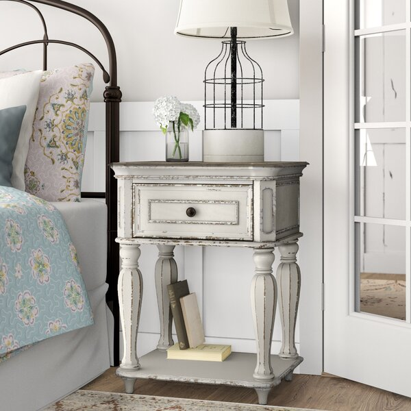 Treport 1 Drawer Nightstand By One Allium Way by One Allium Way 2020 Coupon