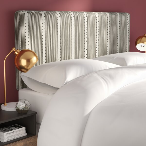 Eden Stripe Box Seam Upholstered Panel Headboard by Brayden Studio