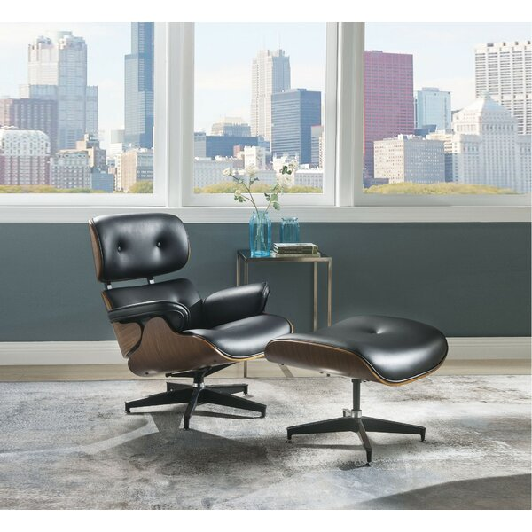 Braunstein Swivel Lounge Chair and Ottoman by Corrigan Studio