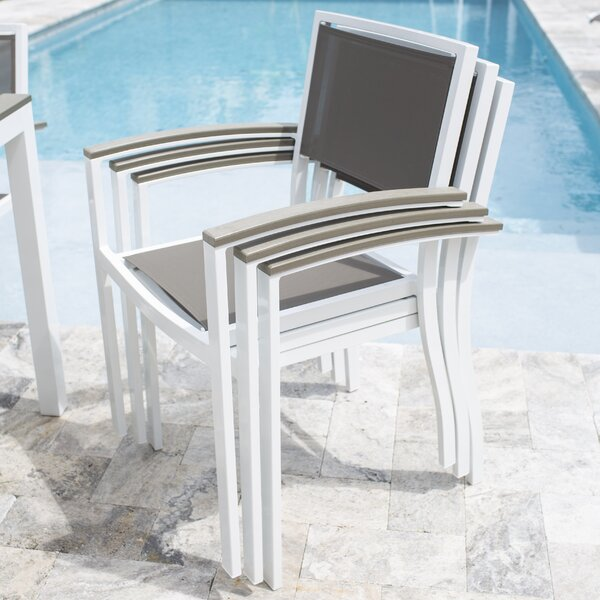 Penelope Stacking Patio Dining Chair by Rosecliff Heights
