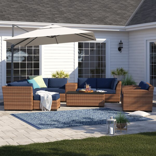 Waterbury 12 Piece Sectional Seating Group with Cushions by Sol 72 Outdoor