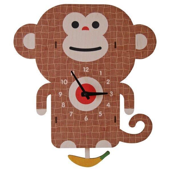 Monkey Pendulum Wall Clock by Modern Moose