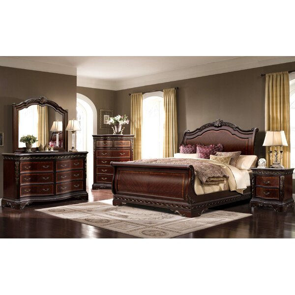 Queen Sleigh 4 Piece Bedroom Set by Ultimate Accents