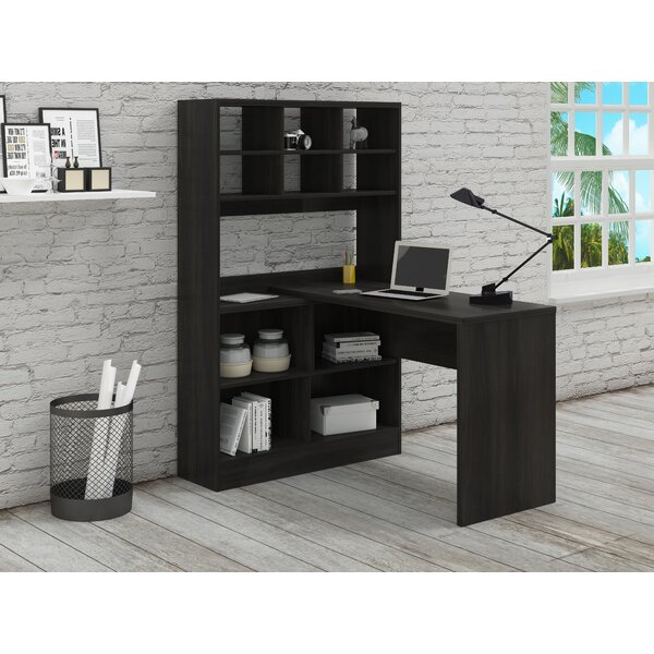 Yeadon L-Shape Writing Desk with Hutch by Latitude Run
