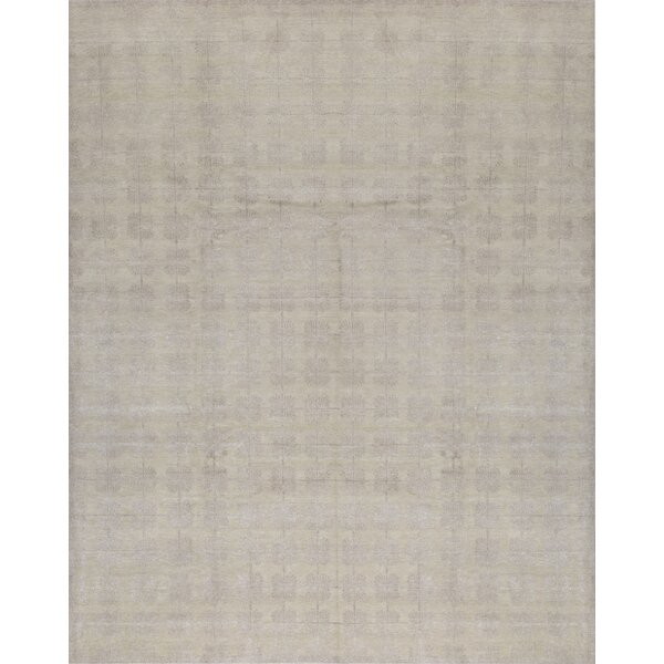 Windsom Floral Hand-Knotted Silver Area Rug