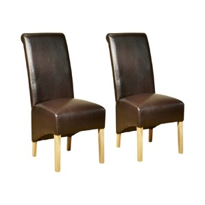 Faux Leather Dining Chairs Wayfaircouk - Leather dining chairs uk