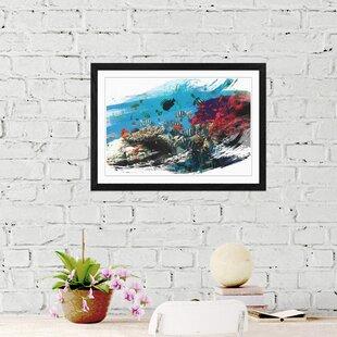 Fish Coral Reef Framed Art Print