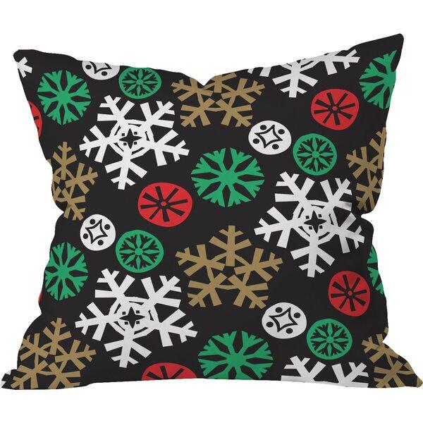 Zoe Wodarz Cozy Cabin Snowflakes Throw Pillow by Deny Designs