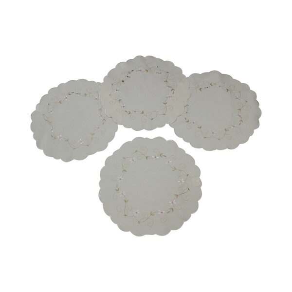 Glory Luxurious Round Placemat (Set of 4) by Violet Linen