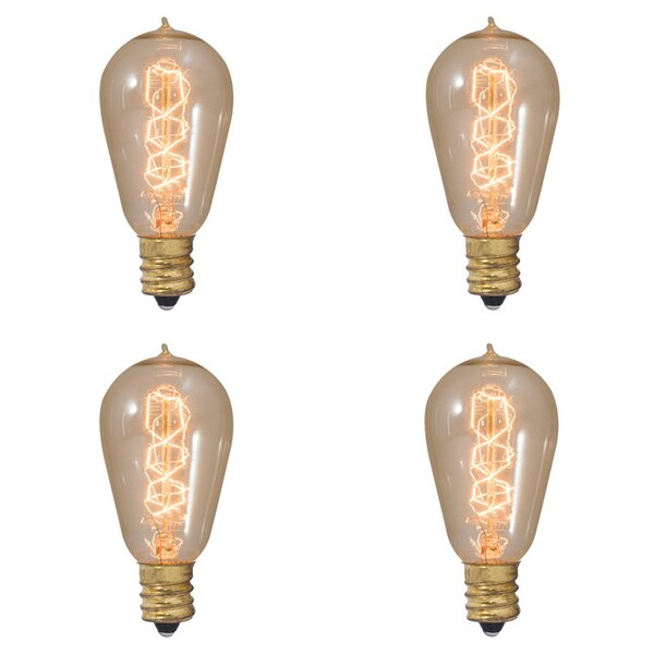 25W E12 Dimmable Incandescent Light Bulb Antique (Set of 4) by Bulbrite Industries