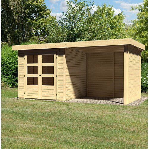 Gartenhaus Askola Woodfeeling Größe: 211 cm H x 433 cm B x 213 cm T Askola 2   Garten > Gartenhäuser   Woodfeeling