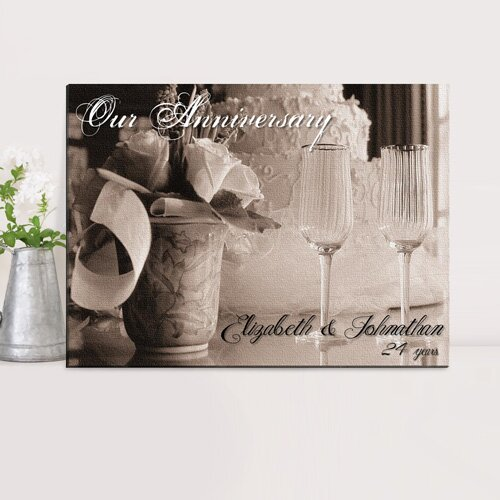 Personalized Couples Photographic print on Wrapped Canvas by JDS Personalized Gifts