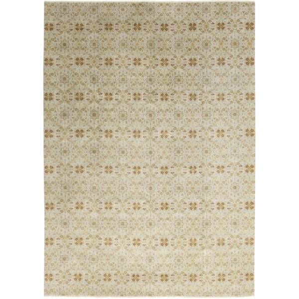 One-of-a-Kind Lockwood Hand-Knotted Wool Gray Indoor Area Rug by Canora Grey