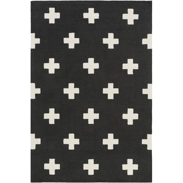 Litten Hand-Crafted Black/White Area Rug by Union Rustic