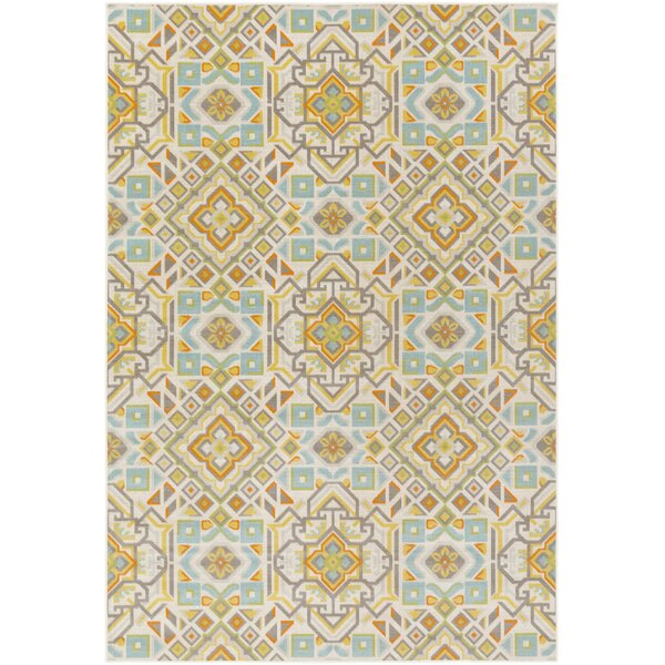 Sandwell Orange/Blue Area Rug by Andover Mills