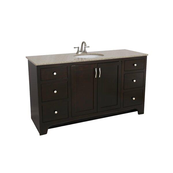 Newtown Ventura -Door 61 Single Bathroom Vanity by Andover Mills