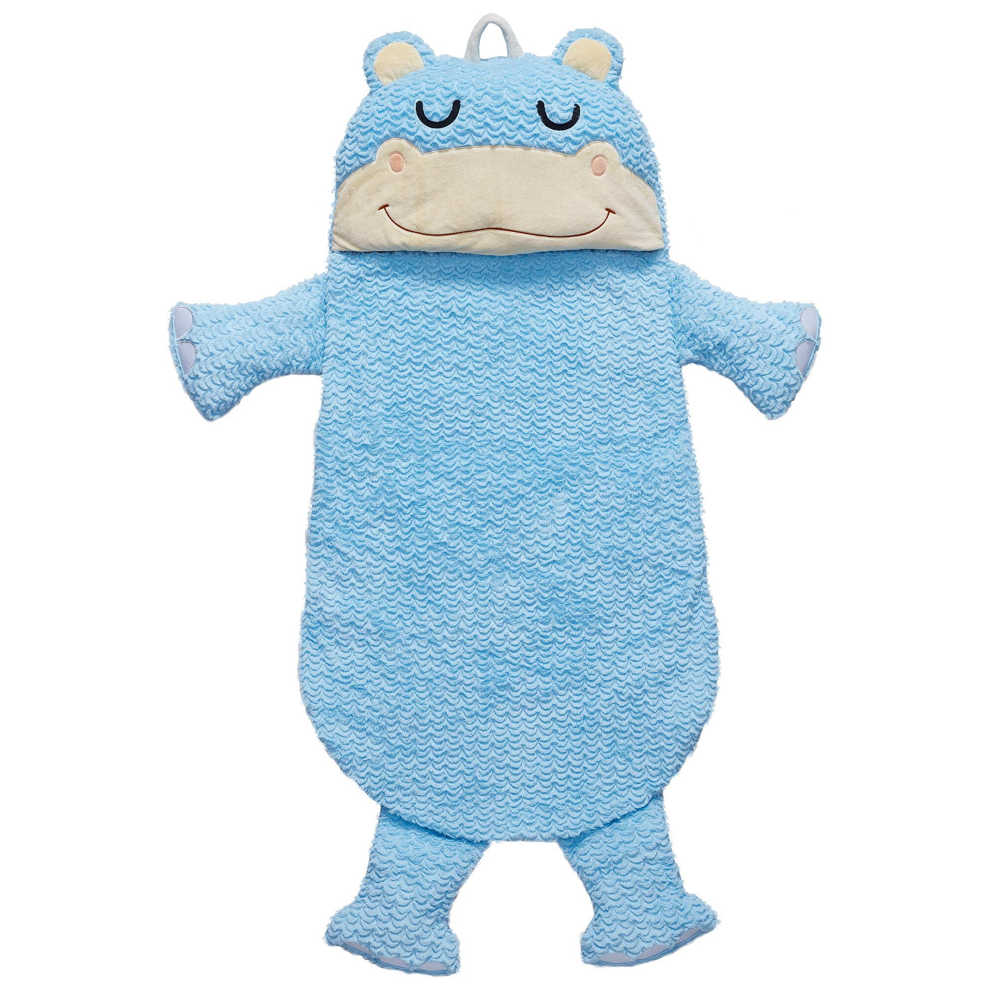 Fantasy Fields Pajama Party Time Hippo Sleeping Bag | Wayfair