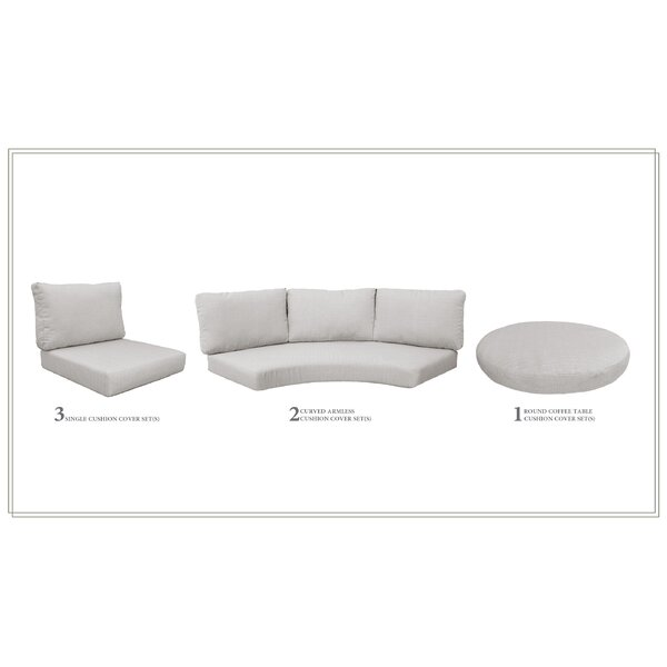 High Back 7 Piece Indoor/Outdoor Replacement Cushion Set