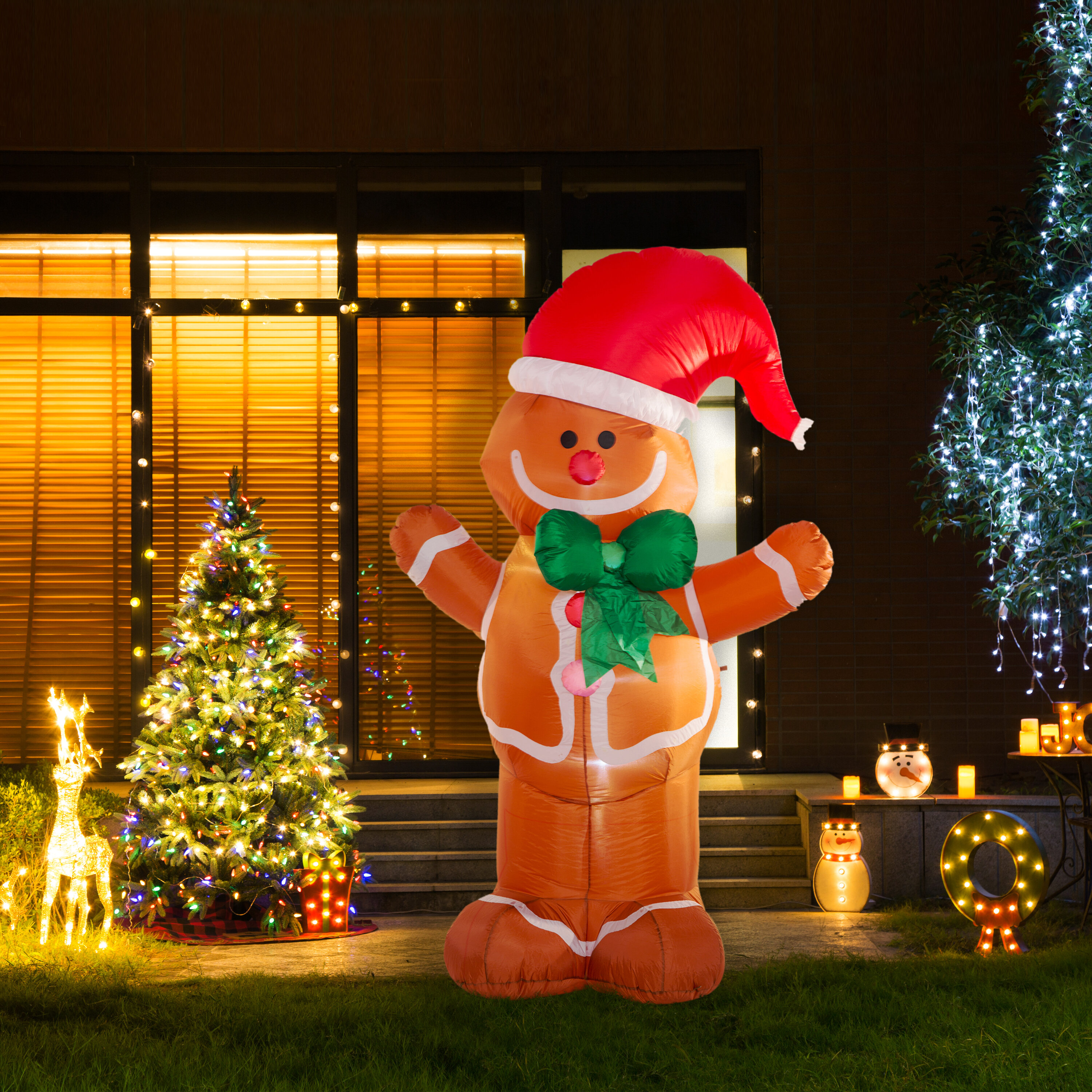 glitzhome light gingerbread man dcor inflatable reviews wayfair