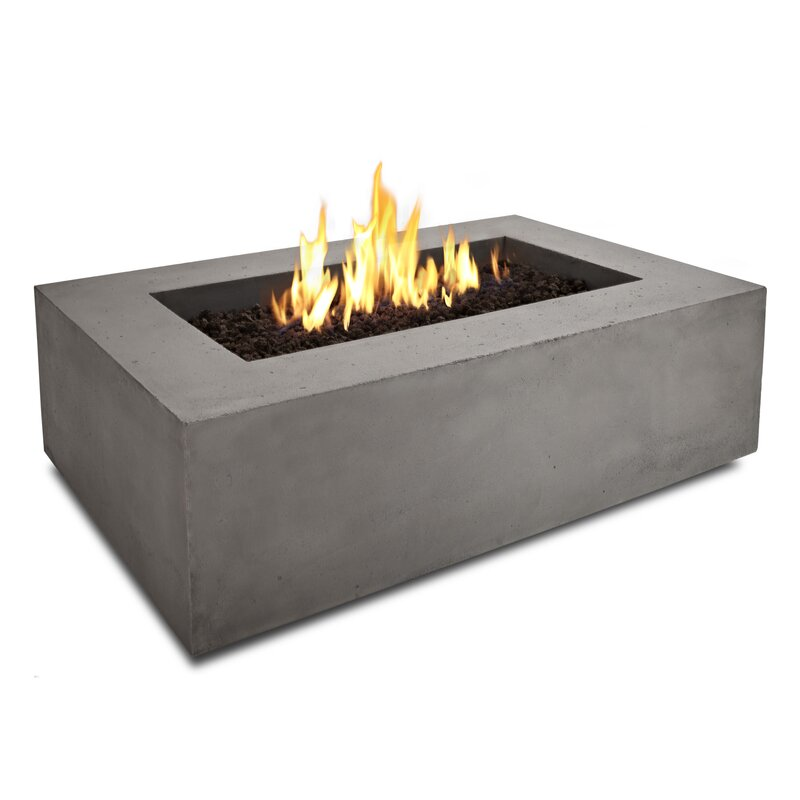 Real Flame Baltic Rectangle Propane Fire Pit Table & Reviews | Wayfair