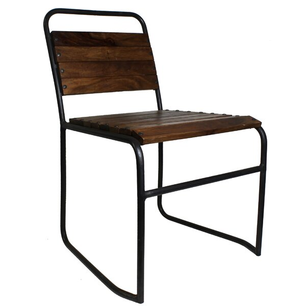 Washington Wood and Iron Side Chair by 17 Stories