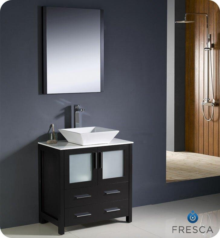 Fresca Torino 30 Single Modern Bathroom Vanity Set With Mirror Reviews Wayfair