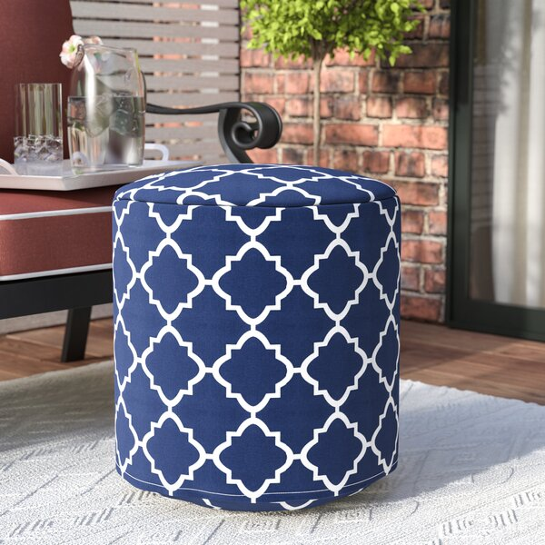 Cribb Round Outdoor Beanbag Ottoman by Wrought Studio