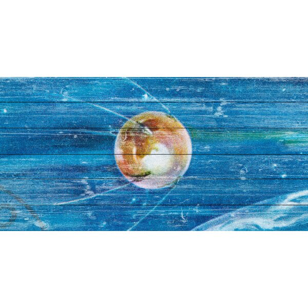 Pushing Through Graphic Art on Wood by Marmont Hill
