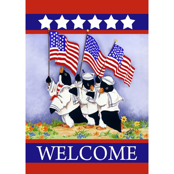 Patriotic Penguins 2-Sided Garden flag by Toland Home Garden