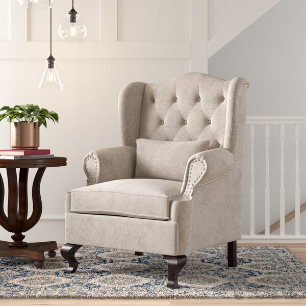 Shanley Wingback Chair by Charlton Home