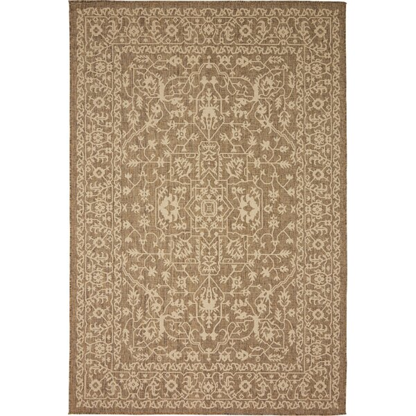 Kivett Brown Outdoor Area Rug by Charlton Home