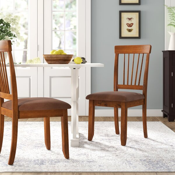 Solange Upholstered Slat Back Side Chair (Set Of 2) By Bay Isle Home