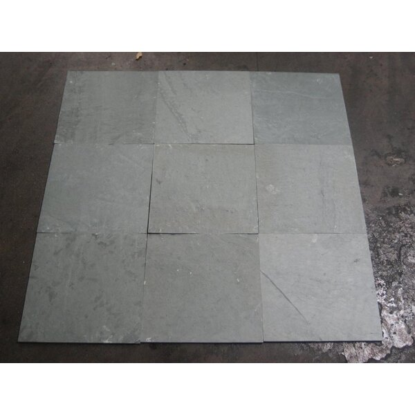Vermont A Grade Natural Cleft Face, Gauged Back 12x12 Slate Field Tile