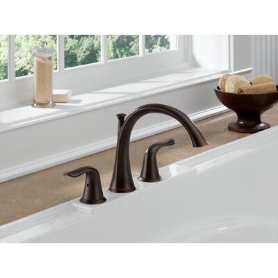 Tub Faucet Deck Mount Double Handle Trim Bronze photo