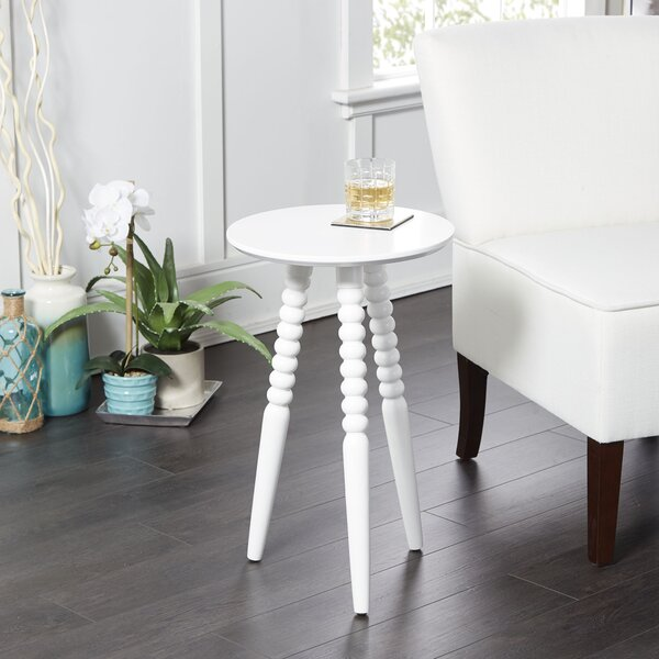Breslin Round Accent Table with Turned Legs by Canora Grey