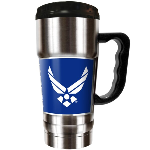 US Armed Forces 20 oz. Stainless Steel Travel Tumbler by Great American Products