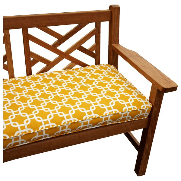 Bridgewood Knotted Indoor/Outdoor Bench Cushion by Beachcrest Home