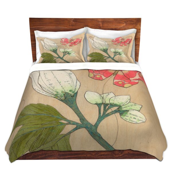 White Flower Butterfly Duvet Cover Set