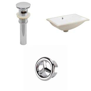 Find a Ceramic Rectangular Undermount Bathroom Sink with Overflow ByAmerican Imaginations
