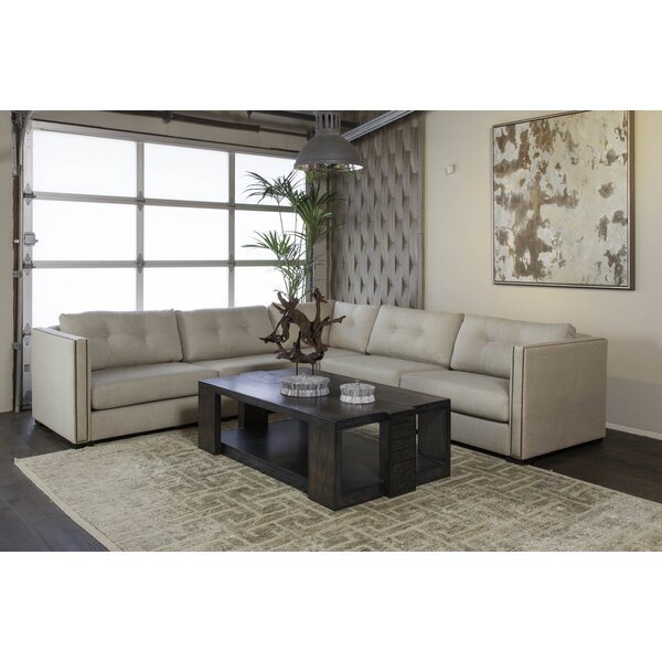 Timpson Symmetrical Plush Deep Modular Sectional By Latitude Run