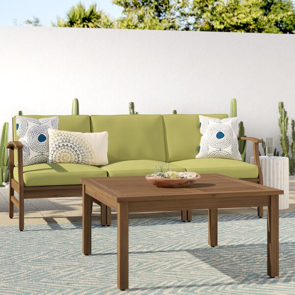 Antonia Outdoor 2 Piece Sofa Seating Group with Cushions by Mistana
