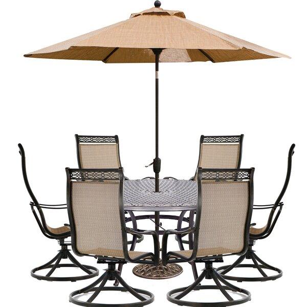 Beier 7 Piece Dining Set with Umbrella