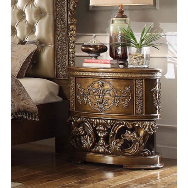 Titus Luxurious 2 Drawer Nightstand by Rosdorf Park