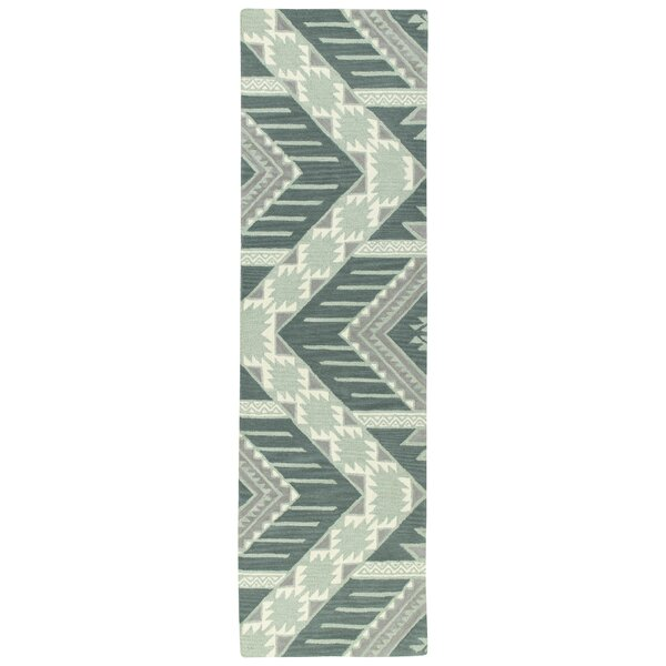 Hinton Charterhouse Hand-Tufted Mint Area Rug by Wrought Studio