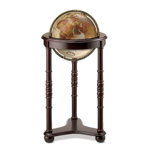 Bronze Metallic World Globe by Three Posts