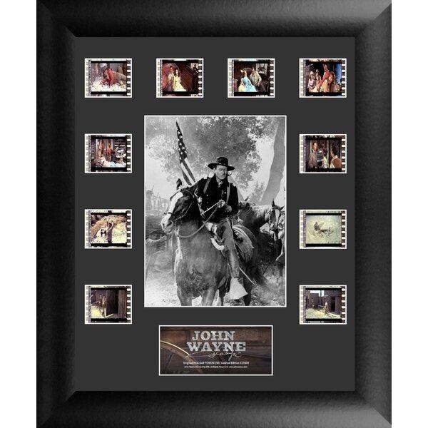 John Wayne Mini Montage FilmCell Presentation 3 Framed Vintage Advertisement by Trend Setters