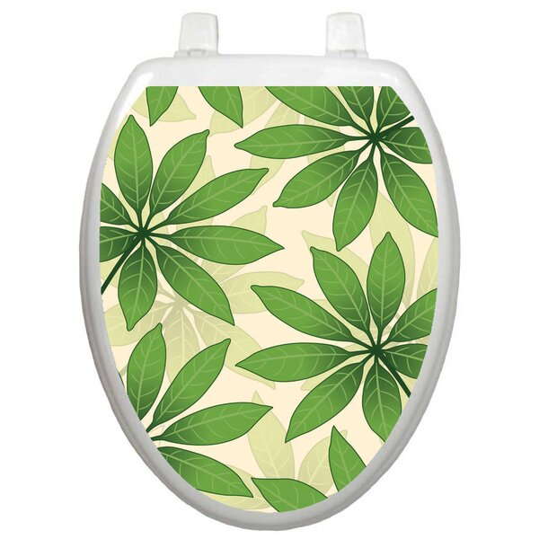 Themes Floating Leaves Toilet Seat Decal by Toilet Tattoos