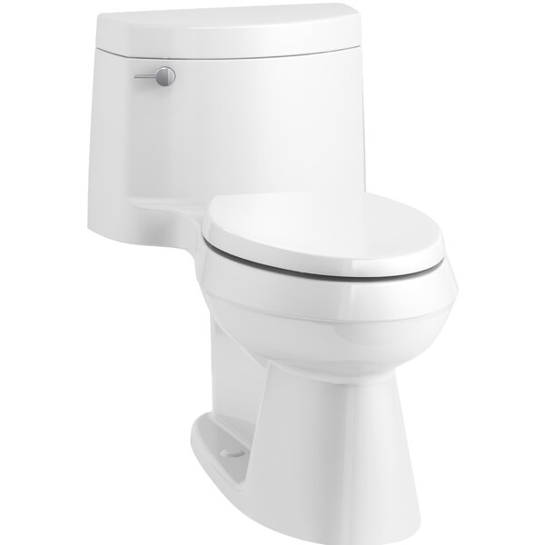 Cimarron Comfort Height One-Piece Elongated 1.28 GPF Toilet with AquaPiston Flush Technology, Concealed Trapway, and Left-Hand Trip Lever by Kohler